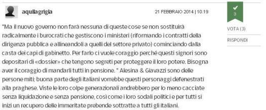 Un sereno commento all'editoriale del Corriere