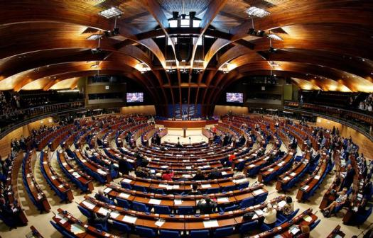 Members of the Parliamentary Assembly of the Council of Europe take part in a debate on the functioning of democratic institutions in Turkey, in Strasbourg